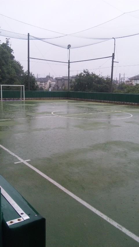 雨でした…